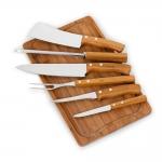 Kit churrasco 7 peças bambu / inox