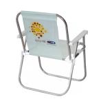 Cadeira de praia em alumínio com porta revista